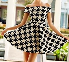 Fashion Spring And Summer Vintage Houndstooth Print Sexy