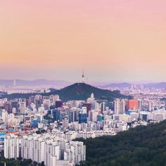 Sunset over beautiful Seoul // NAMSAN TOWER, SOUTH KOREA