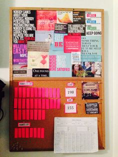 My very own fitness & motivation board!