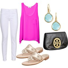 love this shade of pink + the jack rogers sandals