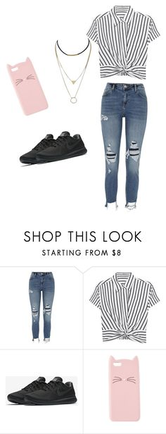 """""""Untitled #1"""" by odetteganem-1 on Polyvore featuring River Island, T By Alexander Wang, NIKE and Charlotte Russe"""
