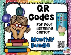 QR Codes Listening Centers Listening Centers, Reading Centers, Listen To Reading, Love Reading, Literacy Stations, Daily 5, Qr Codes, Book Themes, Special Needs