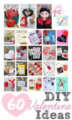 60 Handmade DIY Valentine Printables, Craft and Food gift Ideas to make for your loved ones! www.settingforfour.com