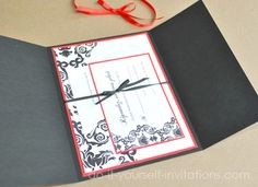 DIY Black And White Damask By Do It Yourself Invitations.com: