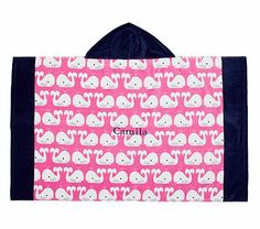 I have an obsession with whales and preppy prints. So cute.    Preppy Whale Beach Wrap #PotteryBarnKids