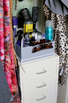 How I Organise My Makeup Collection. Hair Product StorageOrganising ...