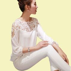 #aliexpress, #fashion, #outfit, #apparel, #shoes 2015, #Hollow, #Out, #, #High, #Quality, #Lace, #Blouse, #Patchwork, #Blusas, #Femininas, #Womens, #Summer, #Black, #White, #, #FX17 http://s.click.aliexpress.com/e/RBmYZfqjE