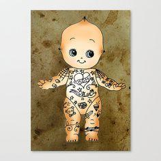 Tattoo Baby Kewpie Doll 8x6 Art Print by HouseOfWonderland on Etsy, £6.00