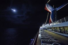 The Carnival Triumph by moonlight.,,, robin,,,, best part is walking around at night!!!