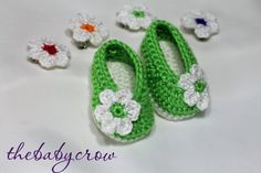 Crochet Baby Booties - Baby Girl Booties -  Ballet Slippers - Hair Clip included. $18.00, via Etsy.