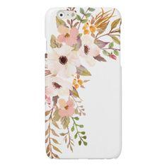 Anemone Flower Bouquet Watercolor Peach White