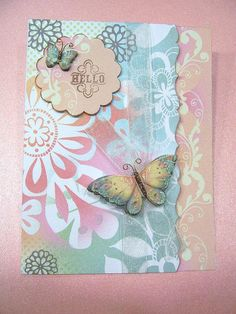 Hello Pretty Butterflies handmade card