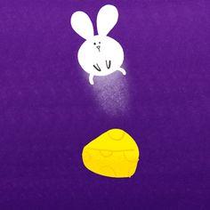Cindy Suen #gif #bunny #cheese