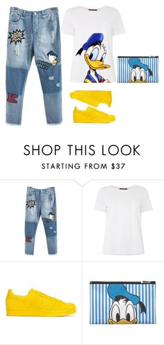 """""""DONALD DUCK"""" by anetjuri ❤ liked on Polyvore featuring MaxMara and adidas Originals"""