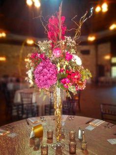 Wedding Flowers. Reception Flowers. Centerpieces. Wedding Centerpiece. Pink and…