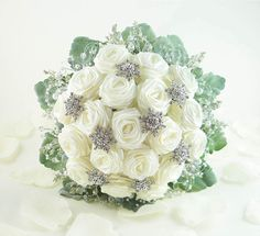 Ice Crystal Wedding Bouquet, Origami Bridal Bouquet, Winter Wonderland Wedding (Medium size) on Etsy, $118.00