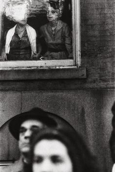 "© Saul Leiter, ""MacArthur Parade, c. 1951"" Saul Leiter, Pittsburgh, City Photography, Vintage Photography, People Photography, Modern Photography, Minimalist Photography, Black And White People, Black White"