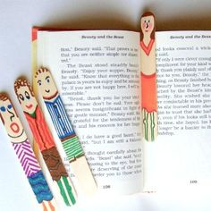 Craft stick bookmarks.