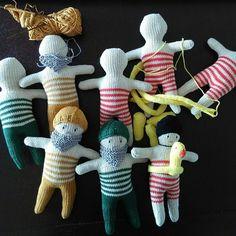 working on a NY order... #dentsdeloup #dolls #fisherman #swimmer