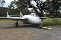 The first Australian built Vampire fighter on display) flew in June
