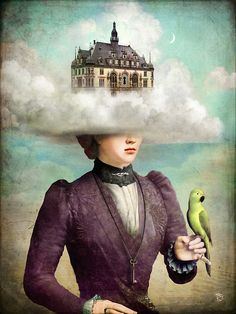Castle in the Clouds by ChristianSchloe - looks like a head in the clouds to me