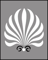 Click to see the actual MS60 - Anthemion stencil design. stencil-library.com (anthemion, shell library)