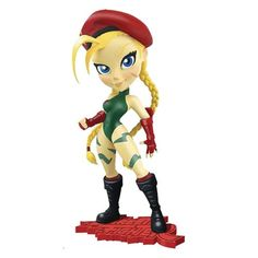 BLOG DOS BRINQUEDOS: Street Fighter Knockouts Série 1 Cammy Vinil Figur...