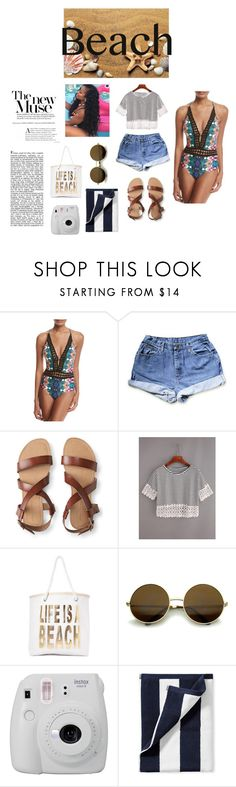 """""""out on the beach Set"""" by shekb ❤ liked on Polyvore featuring Nanette Lepore, Aéropostale, WithChic, Nasty Gal, Fujifilm and Serena & Lily"""