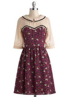 Room With a Mew Dress, #ModCloth    omg though if it was actually mew and not just cats that would just be lkjdshglkj