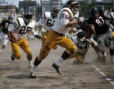 Redskins run the ball against the Bears at Wrigley Field. Notice the baseball infield dirt. Football Pictures, Sports Pictures, Redskins Fans, Redskins Helmet, Redskins Football, Nfl Uniforms, Nfl Championships, Vikings Football, Nfl Football Players