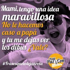 Siempre intentando la jugada maestra!! #frasesquetedejanrota #familiasmolonas #cosasdeniños #camisetas @petitpascon #baberos www.petitpascon.es