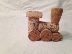 Modelo de tren de corcho del vino hecho a mano | eBay
