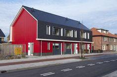 Casas rojas Fotos de archivo