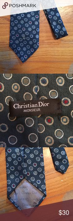 Christain Dior mens tie Christain Dior mens tie. Turquoise color with red and grey dots. offers welcome! Christian Dior Accessories Ties