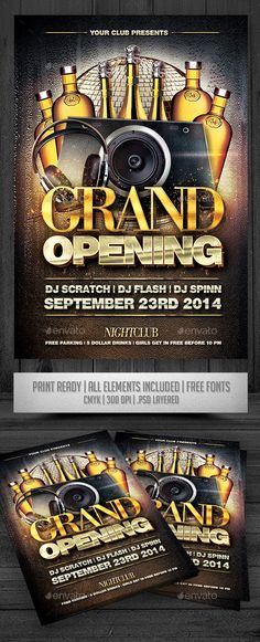 Grand Opening Flyer V2 by satgur , via Behance Book Layout - grand opening flyer