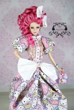 Creations, specializes in one-of-a-kind doll designs, formed by fashion designer, Mario Paglino and graphic art director, Gianni Grossi. Barbie Hair, Barbie Dress, Barbie And Ken, Barbie Clothes, Barbie Doll, Hijab Fashion, Fashion Dolls, Valley Of The Dolls, Hair Jewelry