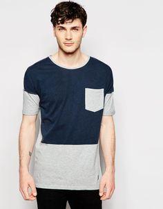 Image 1 ofMinimum T-Shirt with Colour Block