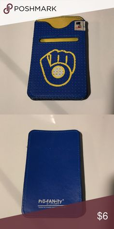 Milwaukee Brewers Cell Phone/ID holder *USED* EUC! Doesn't fit the new phone I have (iPhone 7plus) Bags Clutches & Wristlets