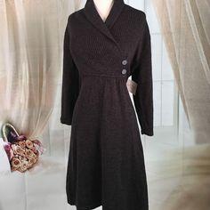 Kasper Dark Gray Sweater Dress NWT Today, featuring in Kaki Jo's closet is the lovely dark gray sweater dress.  New with tags.  Size XL. Kasper Dresses