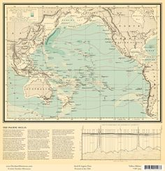 #world #map pacific ocean paper