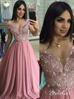 High Quality Lace Prom Dress Chiffon Evening Dresses Off-the-shoulder Formal Gowns Hot on Luulla Chiffon Evening Dresses, Prom Dresses, Bridesmaid Dresses, Dress Prom, Lace Chiffon, Dance Dresses, Fall Dresses, Long Dresses, Dress Long