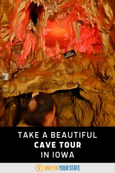 Tour this beautiful Iowa cave with a crystal clear underground pool. The family-family cavern is perfect for a day trip. Underground Pool, Abandoned Prisons, Best Bucket List, Lost Garden, Cave Tours, Bald Hair, Hidden Beach, Family Family, Swimming Holes
