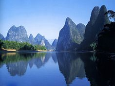 Free PowerPoint Background of Beautiful China 26:Mountains and Waters in Guilin