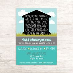 Home Sweet Home Housewarming Invitation  Party