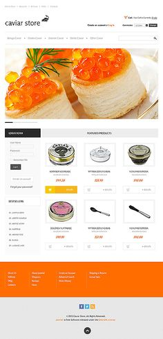 VirtueMart #template // Regular price: $140 // Unique price: $2500 // Sources available: .HTML,  .PSD, .PHP, .XML, .CSS, .JS #Food #Drink #VirtueMart #store #shop #caviar #sevruga #osetra #paddlefish #hackleback #malossol #beluga #zwyer
