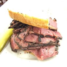 Check Out Katz\'s Deli in New York, NY as seen on Man vs Food and featured on TVFoodMaps. Known for Famous deli sandwiches