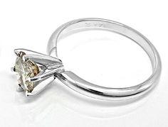 Foto 3, Top Einkaräter-Brillant-Solitär-Ring 1,13ct Luxus! Neu!, S8654