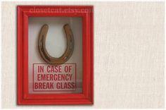 Lucky Horseshoe  In Case of Emergency  Horseshoe от ClosetCat  #lucky #horseshoe