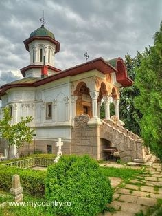 MANASTIREA CERNICA Cathedrals, Mansions, House Styles, Home Decor, Decoration Home, Manor Houses, Room Decor, Villas, Mansion