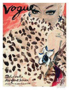 "Vogue Cover - November 1939 by Carl ""Eric"" Erickson. Giclee Print from Art.com, $119.00"